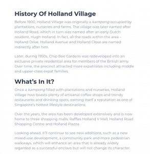 Holland Vilage Master Plan Article Leedon Green Condo Part 1