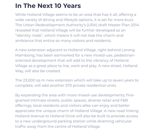 Holland Village Master Plan Article Leedon Green Condo Part 2