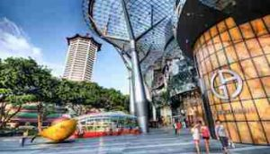 Orchard Road shopping near Leedon green