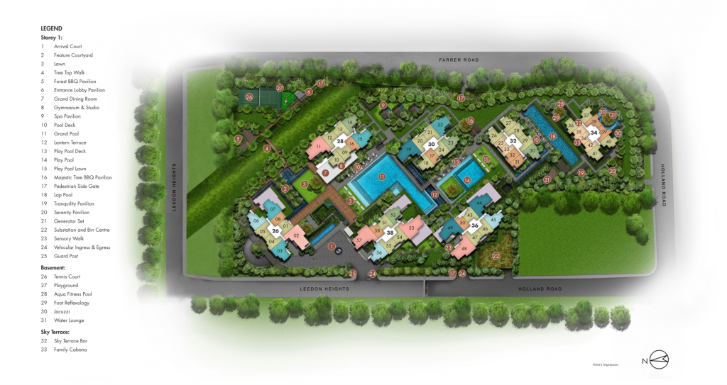 Leedon Green Siteplan with Legend