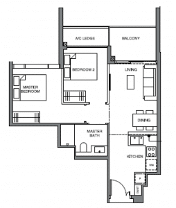 leedon-green-2-bedroom-floor-plan-b1-singapore