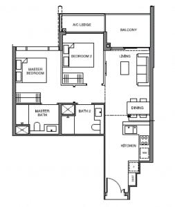 leedon-green-2-bedroom-floor-plan-b5-singapore-863x1024