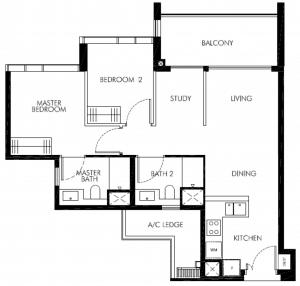 leedon-green-2-bedroom-plus-study-floor-plan-bs1-singapore-1024x976
